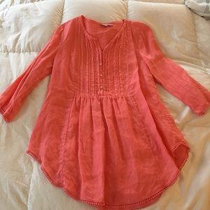 Watermelon linen shirt